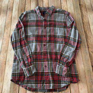 Saddlebred red & grey plaid long sleeve med shirt